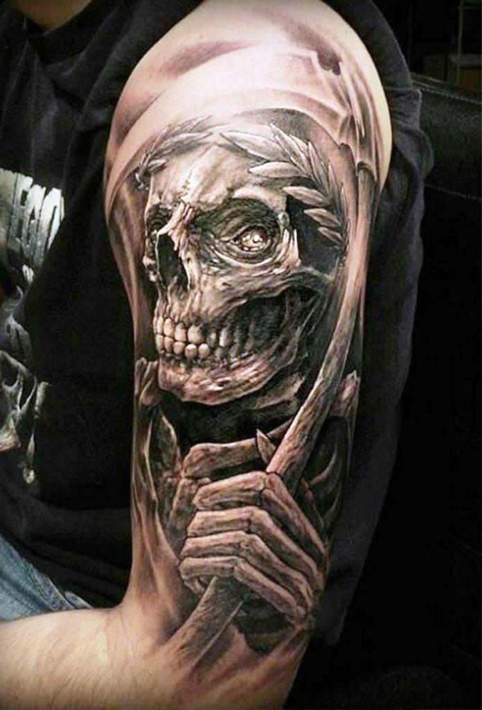 2. Grim Reaper Tattoo