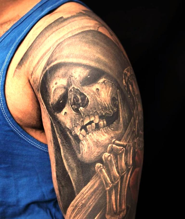 7. Grim Reaper Tattoo