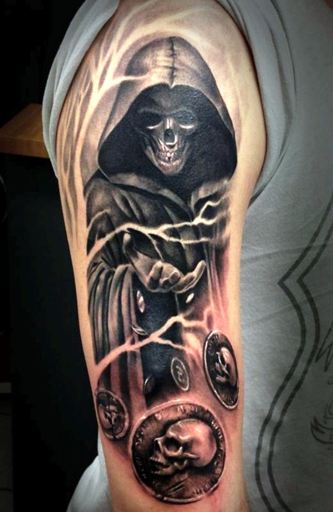 1. Grim Reaper Tattoo