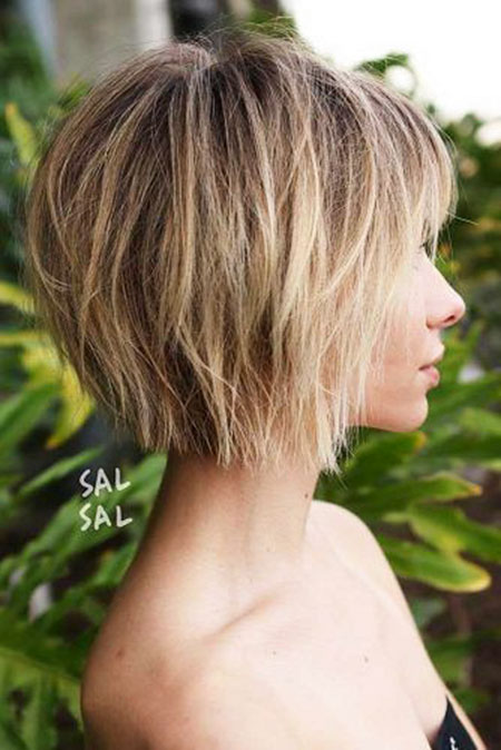 Bob Balayage Shaggy Choppy